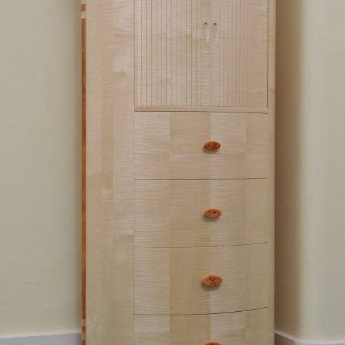 Rippled Sycamore Cabinet