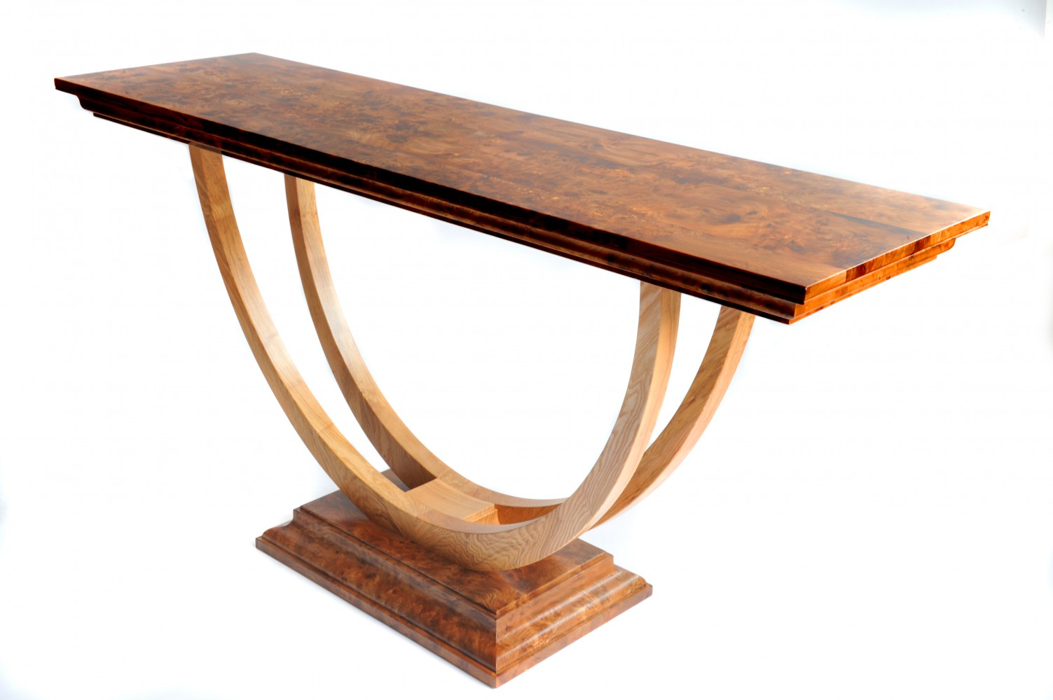 Burr Elm Console Table