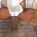 Superb English burr oak seats